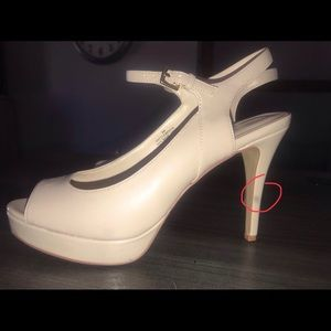 "Nude ""Nine West high heels"